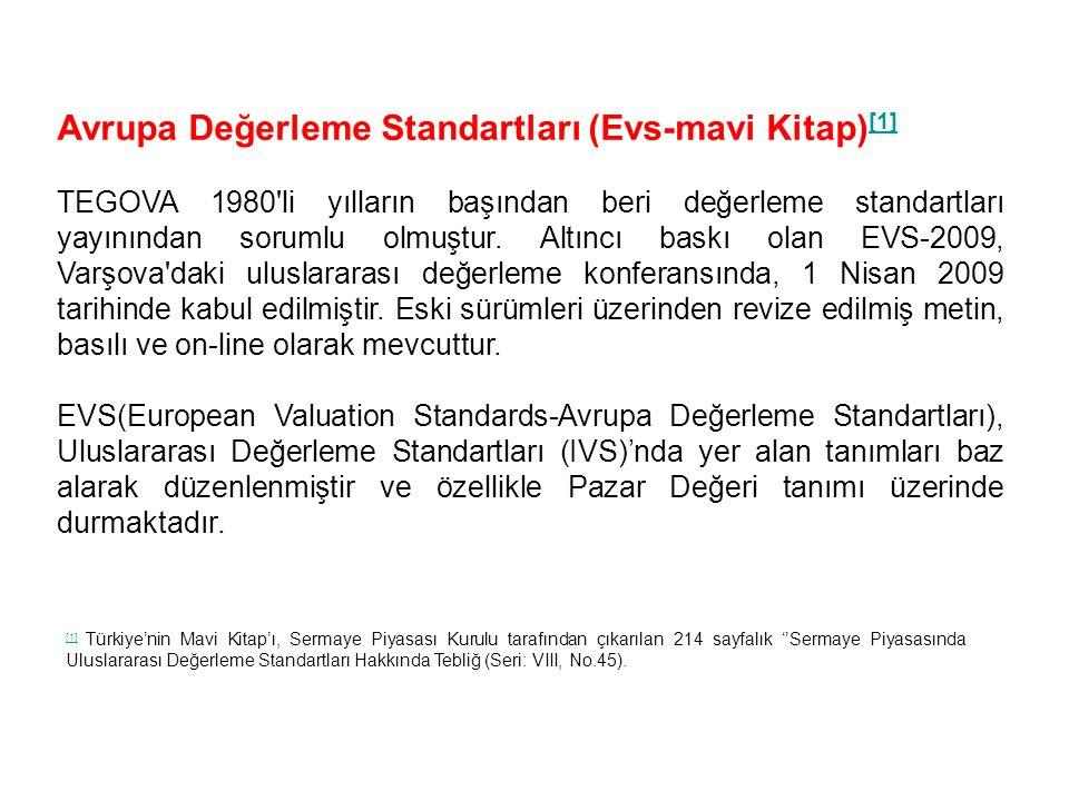Avrupa Değerleme Standartları (Evs-mavi Kitap)[1]